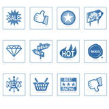 De pictogrammen van het Web: Online Winkelende 1 Stock Foto