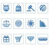 De pictogrammen van het Web: Online Winkelende 2 Stock Afbeelding