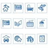 De pictogrammen van het Web: Onroerende goederen 1 Royalty-vrije Stock Afbeelding