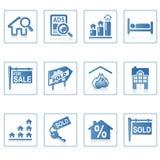 De pictogrammen van het Web: Onroerende goederen 2 stock afbeelding