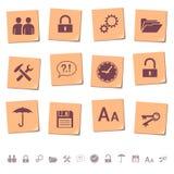 De pictogrammen van het Web op memorandum neemt nota van 3 Stock Foto's