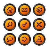 De pictogrammen van het Web, oranje reeks Royalty-vrije Stock Afbeeldingen