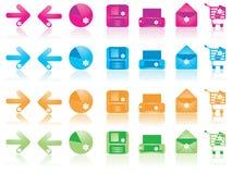 De pictogrammen van het Web plaatsen 1 Royalty-vrije Stock Foto's