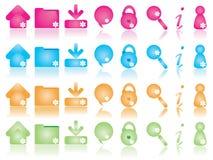 De pictogrammen van het Web plaatsen 2 Royalty-vrije Stock Foto's