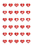 De Pictogrammen van het Web van de liefde plaatsen 2 Stock Afbeelding