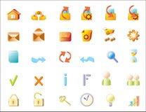 De pictogrammen van het Web (vector) Royalty-vrije Stock Fotografie