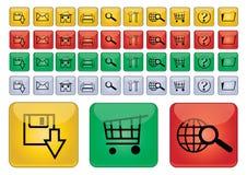 De pictogrammen van het Web - vector Royalty-vrije Stock Afbeeldingen
