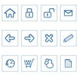 De pictogrammen van het Web: website en intern stock illustratie