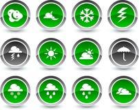 De pictogrammen van het weer. Royalty-vrije Stock Fotografie