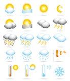 De pictogrammen van het weer. Royalty-vrije Stock Foto