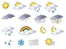 De pictogrammen van het weer Royalty-vrije Stock Foto
