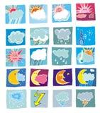 De pictogrammen van het weer Royalty-vrije Stock Foto's