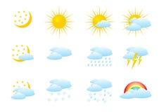 De pictogrammen van het weer Royalty-vrije Stock Afbeeldingen