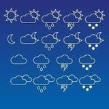 De pictogrammen van het weer Royalty-vrije Illustratie