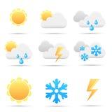 De pictogrammen van het weer Royalty-vrije Stock Afbeelding