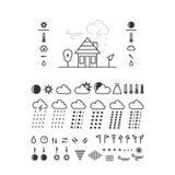 De pictogrammen van het weer Royalty-vrije Stock Fotografie