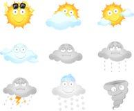 De pictogrammen van het weer Stock Foto's