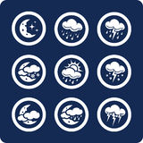De pictogrammen van het weer (plaats 7, deel 2) Stock Afbeeldingen