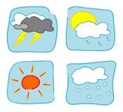 De pictogrammen van het weer - Reeks 2. vector illustratie