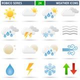 De Pictogrammen van het weer - Reeks Robico Stock Afbeelding