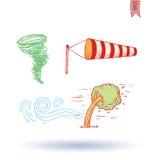 De pictogrammen van het weer Vector illustratie Stock Fotografie