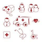 De pictogrammen van het ziekenhuis Royalty-vrije Stock Foto's