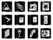 De pictogrammen van huisapplicances eenvoudig Stock Fotografie