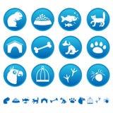 De pictogrammen van huisdieren Stock Foto's