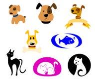 De pictogrammen van huisdieren Stock Afbeelding