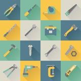 De pictogrammen van hulpmiddelen Stock Foto