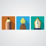 De pictogrammen van hulpmiddelen Stock Foto's