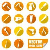 De pictogrammen van hulpmiddelen Stock Afbeelding