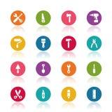 De pictogrammen van hulpmiddelen Stock Fotografie