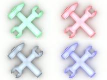 De pictogrammen van hulpmiddelen vector illustratie