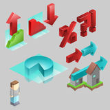 De Pictogrammen van Infographic Royalty-vrije Stock Foto