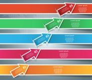 De Pictogrammen van Infographic Het pictogram van pijlen Stock Foto