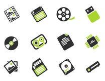 De pictogrammen van informatiedragers Royalty-vrije Stock Foto