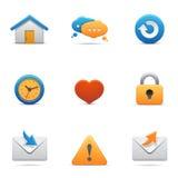 De pictogrammen van Internet Royalty-vrije Stock Afbeeldingen