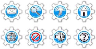 De pictogrammen van Internet. Stock Fotografie