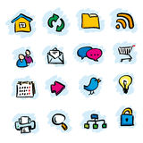 De pictogrammen van Internet Royalty-vrije Stock Foto