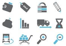 De pictogrammen van Internet Royalty-vrije Stock Foto's