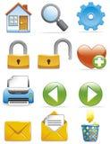 De pictogrammen van Internet Stock Foto