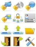 De pictogrammen van Internet Stock Afbeeldingen