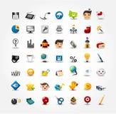 De pictogrammen van Internet & van de Website, de Pictogrammen van het Web, Geplaatste pictogrammen Stock Foto