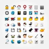 De pictogrammen van Internet & van de Website, de Pictogrammen van het Web, Geplaatste pictogrammen Stock Fotografie