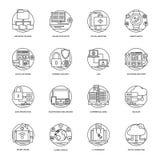 De Pictogrammen van Internet en van het Voorzien van een netwerk royalty-vrije illustratie