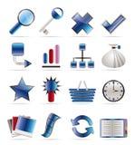 De Pictogrammen van Internet en van de Website Stock Afbeeldingen