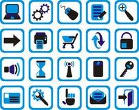 De pictogrammen van Internet en van het Web Stock Afbeelding