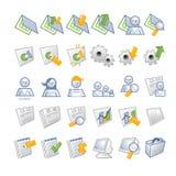 De Pictogrammen van Internet - OB en gebruikers Stock Afbeeldingen