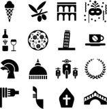 De pictogrammen van Italië Stock Foto